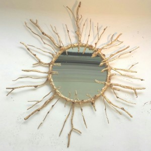 Gold Branch Mirror
