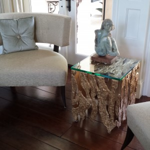 Gold See-Through Table