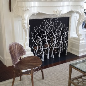 White Branch Fireplace Screen