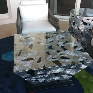 Silver & Black White Diamond Coffee Table