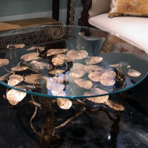Round Glass Top Sea Grape Table