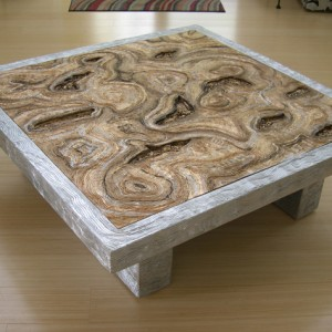 Metallic Gold & Silver Coffee Table