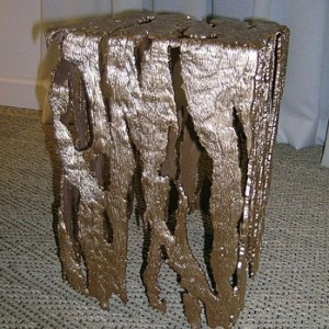 See Through Textured End Table