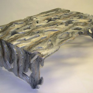 Silver, Gold & Black See Through Coffee Table