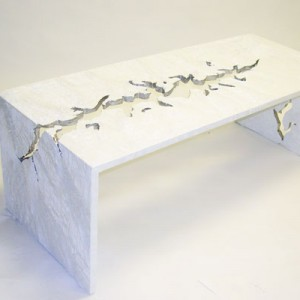 White Glacier Coffee Table