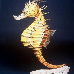 Pot-bellied Seahorse Sculpture [approx. 16in]