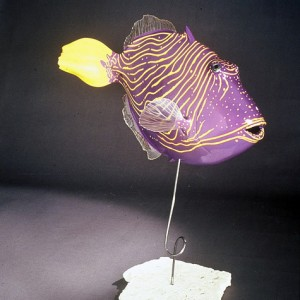 Undulated Triggerfish Sculpture [approx. 16in]