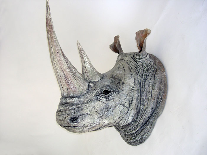 White Rhino Head