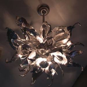 Silver Sea Kelp Chandelier
