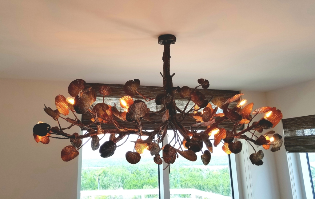 forge chandelier ribbon skt hubbardton product detail products arm